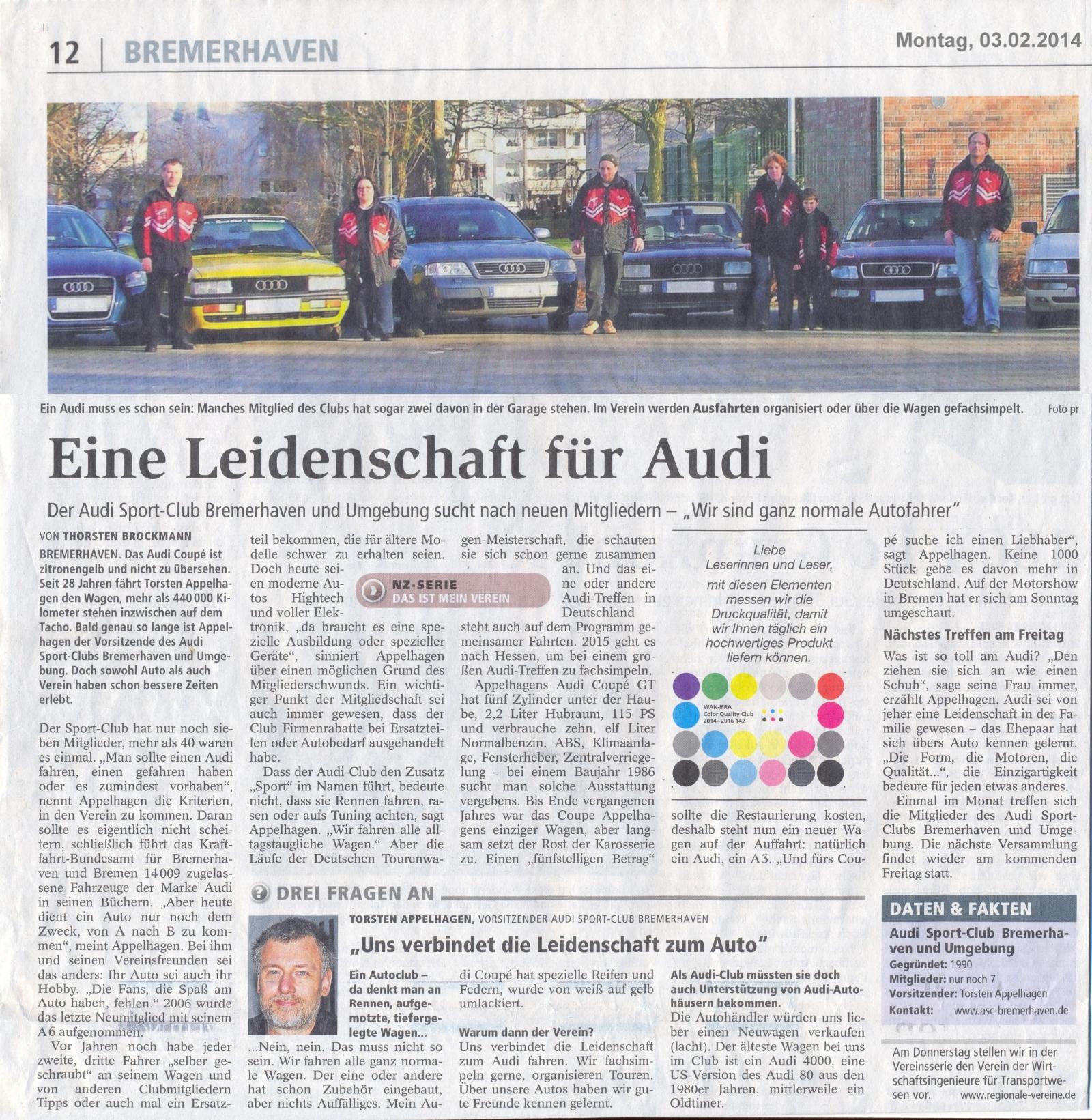 Scan des Zeitungsartikels